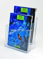 Plastic A4 phamlet holders 2 tiers