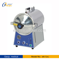 MR-T24J Full Stainless steel round Shape steam sterilizer 24L