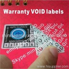 white vinyl void labels