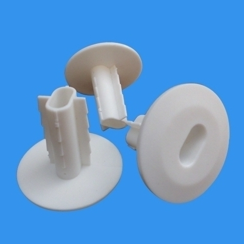 Cable Wire Feed Through Wall Bushing White For Double