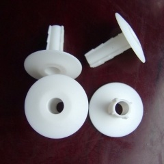 White Single Coaxial Cable Wall Grommet Bushing