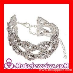 Pave Crystal Chain Bracelet