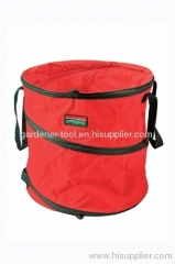 Red Garden Clean Leaf Bag With Cover.