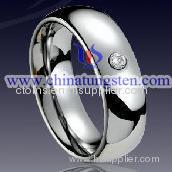Tungsten CZ Stone Ring