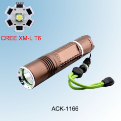 Rechargeable Portable CREE XML T6 High Power LED Torch