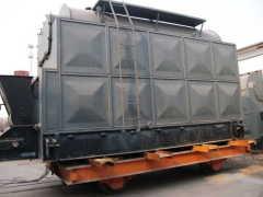 traveling grate biomass boiler