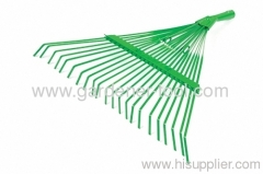 metal garden lawn leaf rake for collect garden leaf