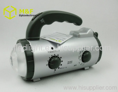 dynamo hand crank flashlight radio