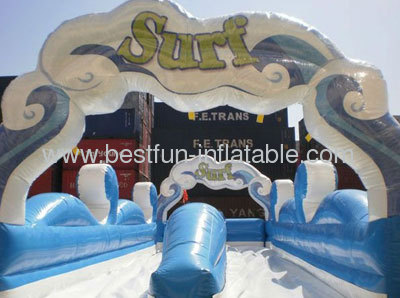 Sea Wave Inflatable Slide