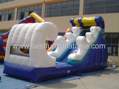Wavy Inflatable Wet Slide Dry Slide