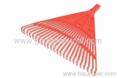 Plastic outdoor leaf rake with 24 Teeth