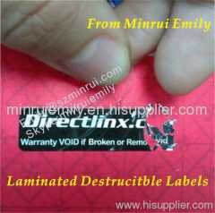 laminated egg shell fragile labels