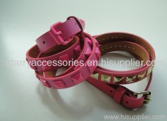 PU ladies belt