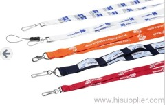 polyester ribbed style lanyards
