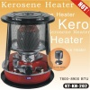 Glass chimney kerosene heater with safety system