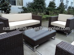 Outdoor PE rattan furniture hotel pool modern sofa sets