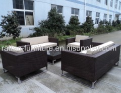 Outdoor garden rattan furniture sofa set standless leg