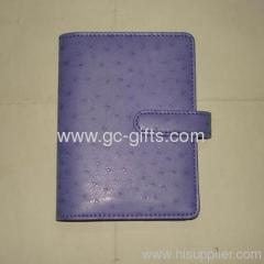 PU leather diaries for loose inner pages purple