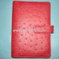 Pink Ostrich leather organizers A6 sizes