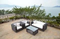 PE wicker patio furniture sofa sets