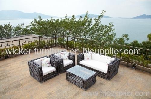 PE wicker patio furniture sofa sets