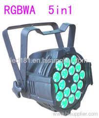 rgbwa led par light
