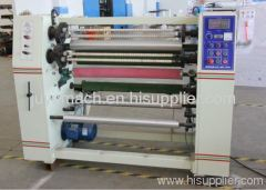 Stationary tape slitting machine