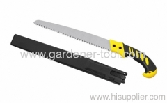 Outdoor wood saw with sheath