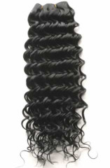 deep wave curl 100% human machine made hair weave weft