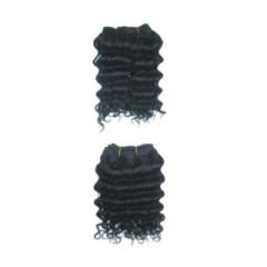 2pcs set Deep wave human machine made hair weave weft