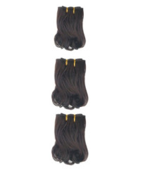 3pcs set Italy curl hair machine made weave weft weaving
