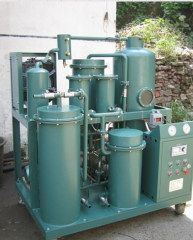 Lube oil filtering oil reclamation oil refinery unit