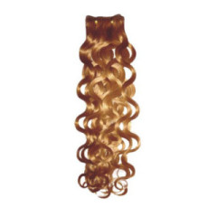 wavy curl wave color hair machine made weaving weft