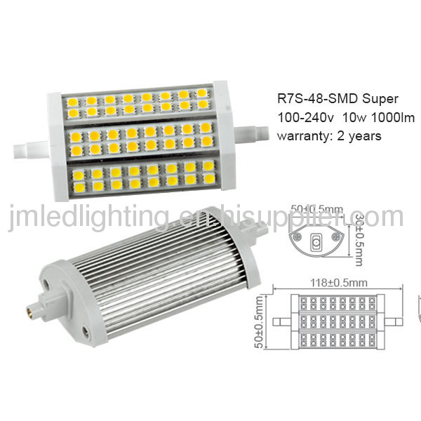 100 240v r7s led lamp 118mm 10w 1000lm aluminium from. Black Bedroom Furniture Sets. Home Design Ideas