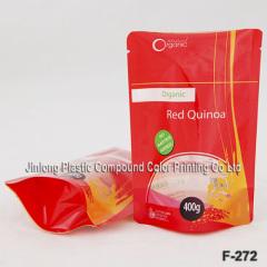 free-standing quinoa packaging bag