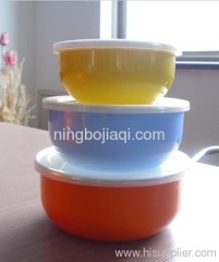 promotion enamel bowl with colorful