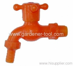 "PVC Garden Water Faucet With ""+"" Handle"