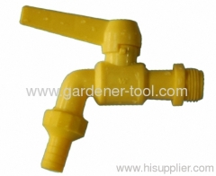 Outdoor water faucet is made from PVC