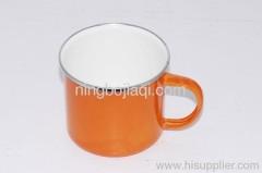 The orange enamel mug