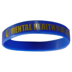 75mm×8mm blue Silicon wristbands