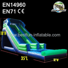 18' Green Water Slide