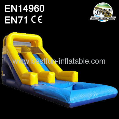 Yellow Inflatable Water Slide