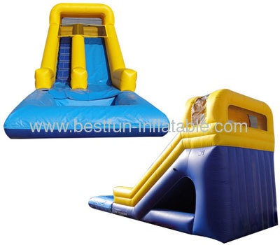 Yellow Bumper Detachable Pool Inflatable Wet Or Dry Slide