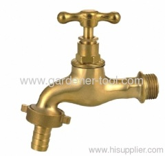 Outdoor Brass Water Bibcock with cap at the head
