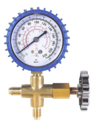 Single valve manifold gauge HVAC