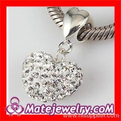 european Crystal Heart Pendant Beads