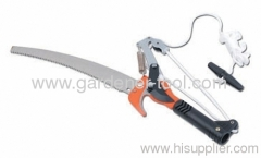 Ratchet Garden Tree Lopper Saw With Plastic Joint For Connecting Handle