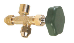 Single valve manifold without gauge refrigeration parts