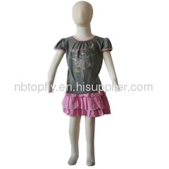 cotton girl's T-shirt and skirt set