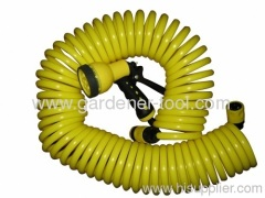 50FT Backyard Coil water hose with plastic nozzle